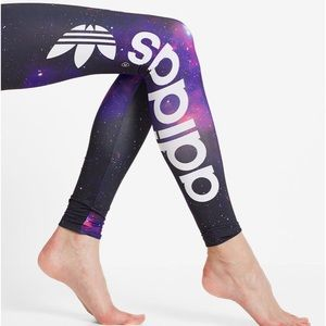Rare Adidas Trefoil Galaxy Leggings